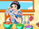 Snow White Cooking...